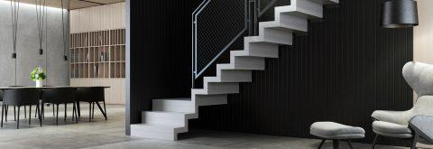 Konstruerade trappor som är över kundens förväntan